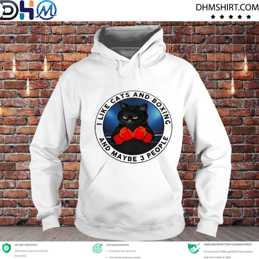 Original i like cats and boxing and maybe people s hoodie